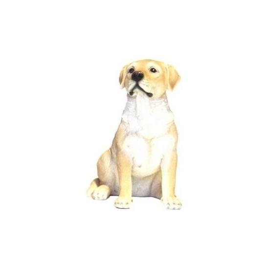 Tuin blonde Labrador beeldje hondje 21 cm