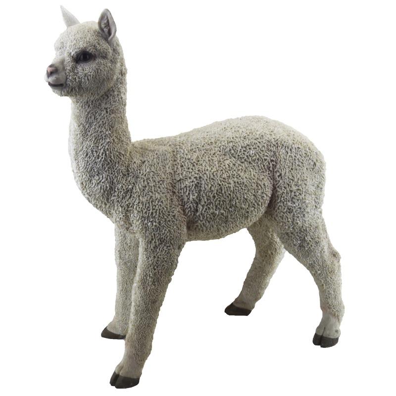 Tuinbeeld alpacas staand 54 cm