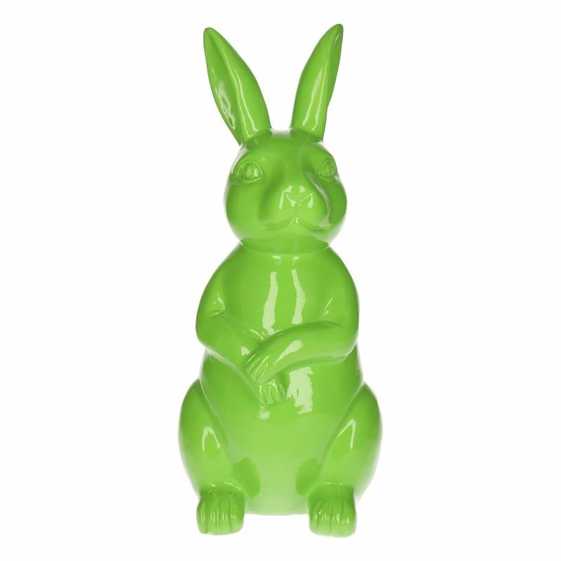 Tuinbeeld konijn / haas groen 30 cm