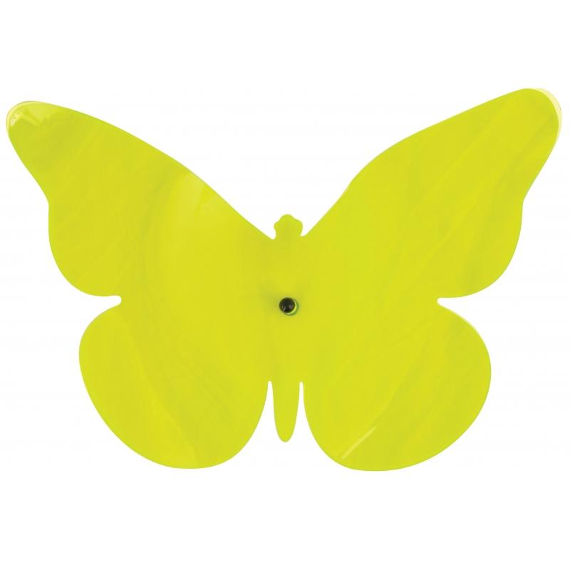 Tuindecoratie vlinder voor aan de muur groen 25 cm