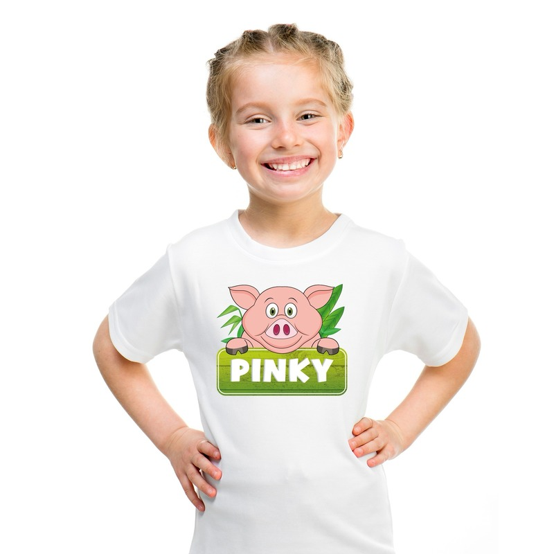 Varken dieren t-shirt wit voor kinderen