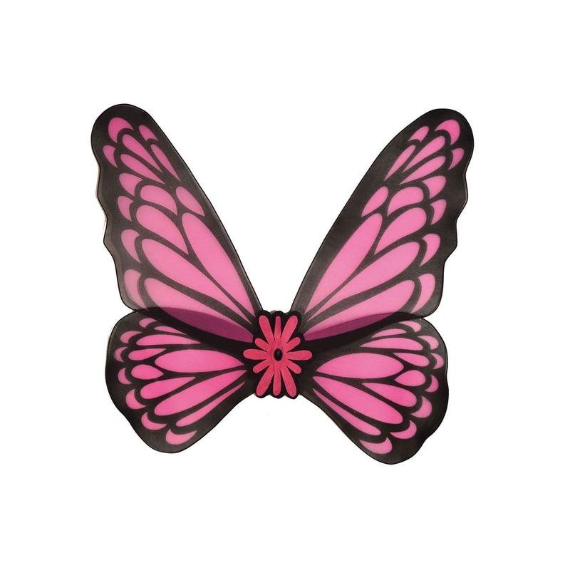 Verkleed vleugels vlinder roze volwassenen