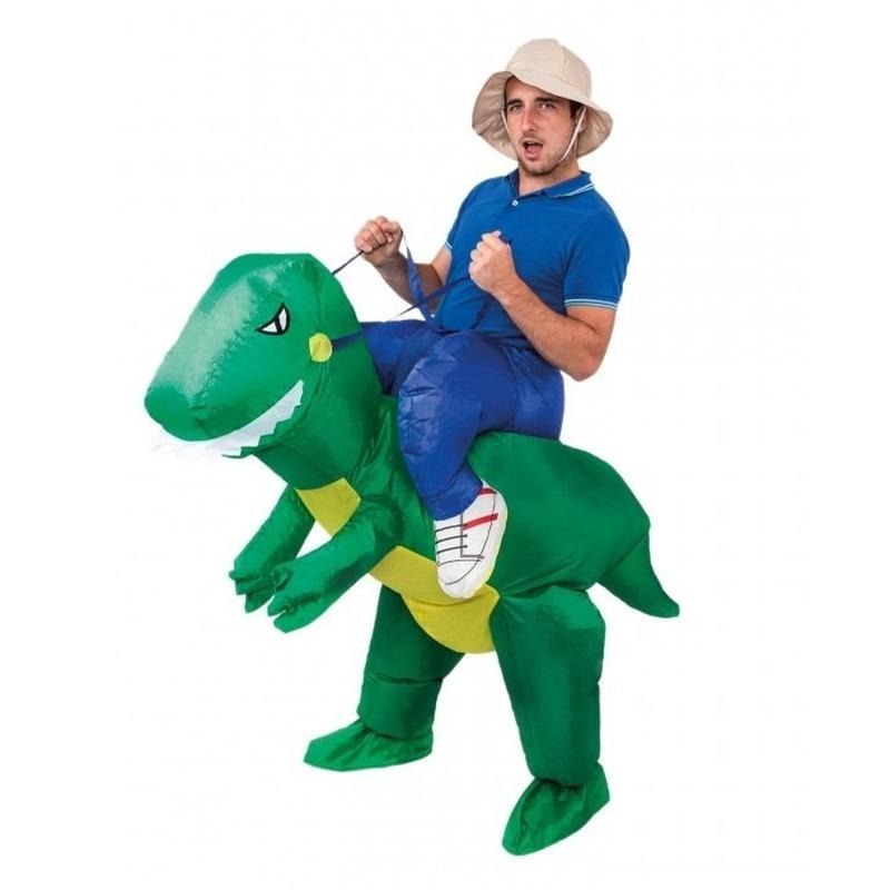 Verkleedset opblaasbare dinosaurus voor volwassenen
