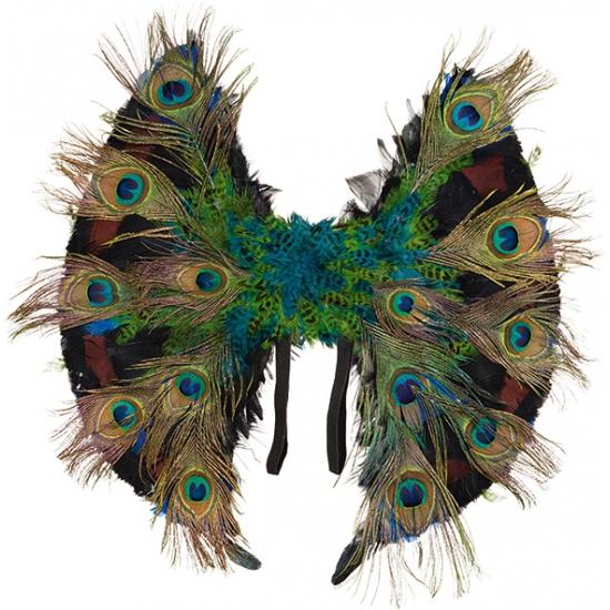 Vleugels van pauwenveren