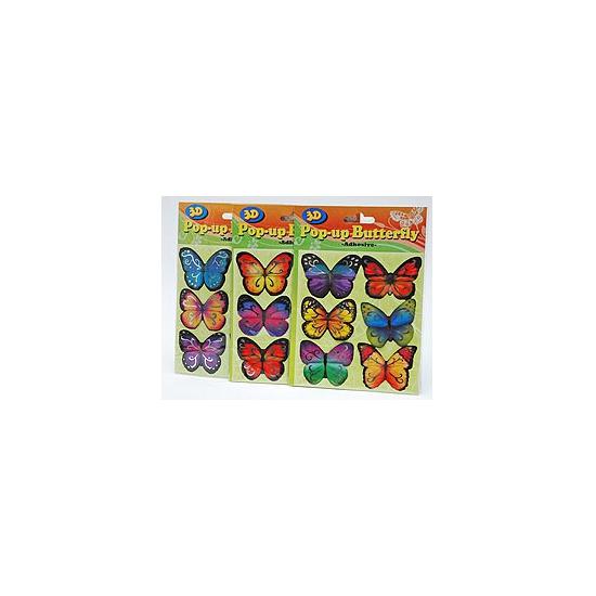 Vlinder stickertjes 6 stuks