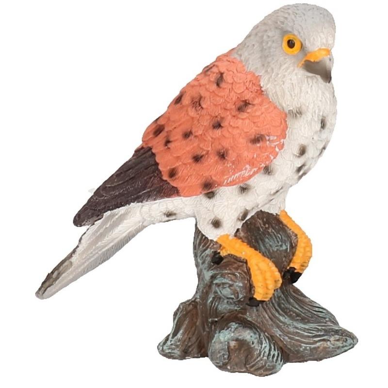 Vogel decoratie beeldje torenvalk 11 cm