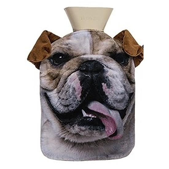 Warm water kruik 0,7 liter met Engelse Bulldog honden print