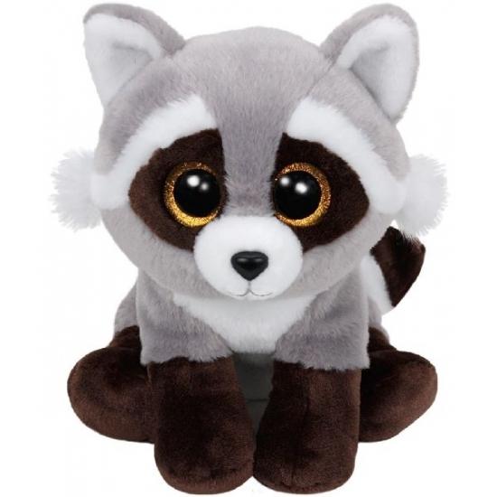 Wasbeer knuffel Ty Beanie Bandit 24 cm