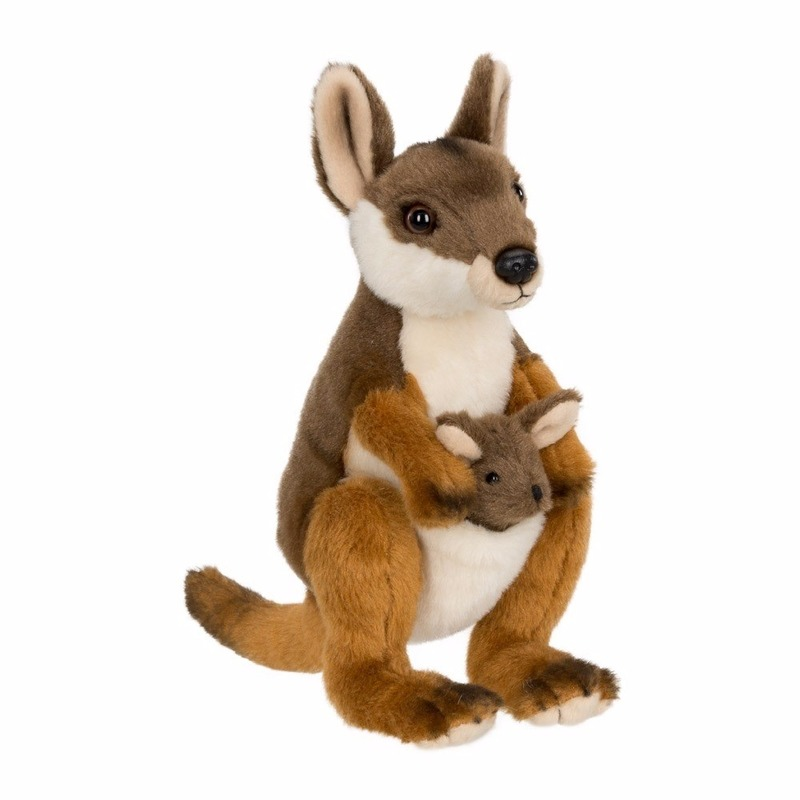 Wereld Natuur Fonds kangoeroe met baby 19 cm
