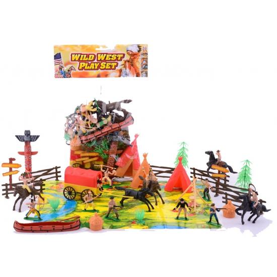 Wilde Westen speelgoed poppetjes set 40-delig