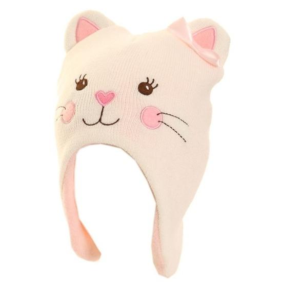 Wintermuts poes/kat voor meisjes roze