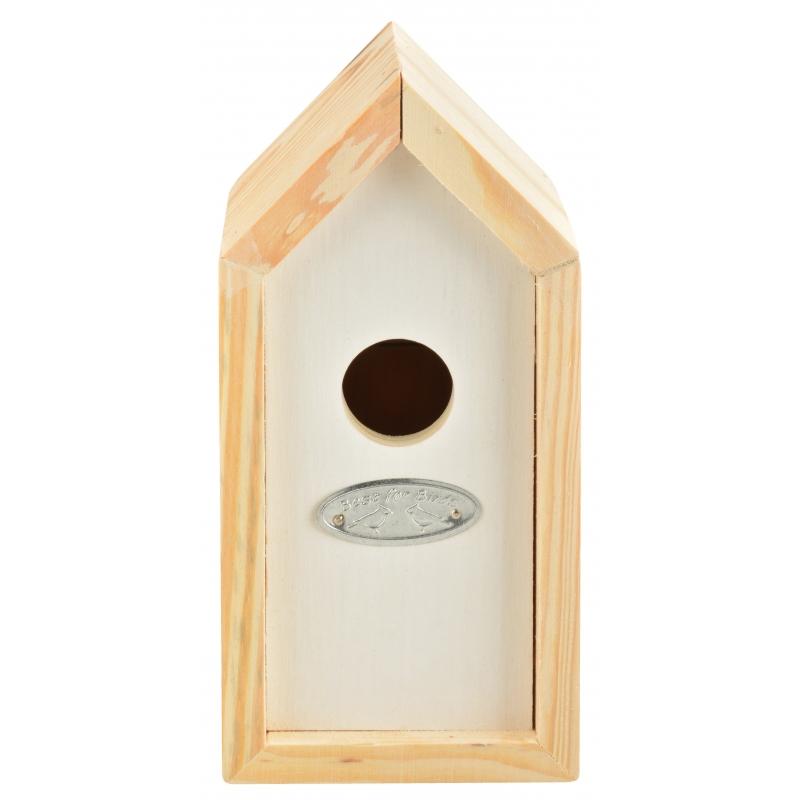 Wit nestkastje voor kleine tuinvogels 10x11x20 cm