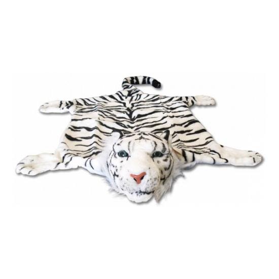 Wit tijgervel deken 74 x 90 cm