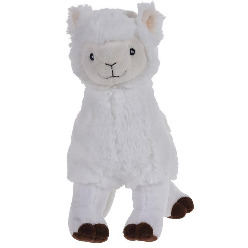 Afbeelding Witte alpaca/lama knuffeldier 30 cm door Animals Giftshop