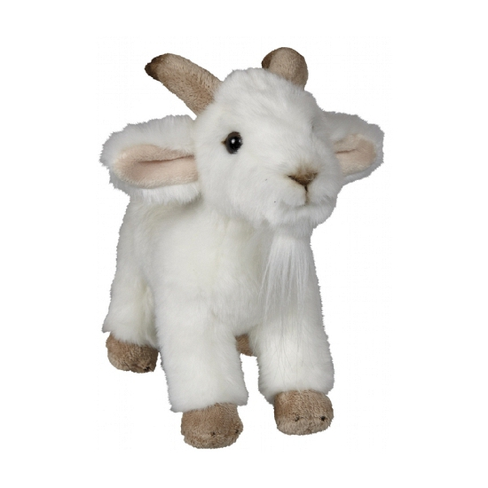 Witte geit knuffel 22 cm