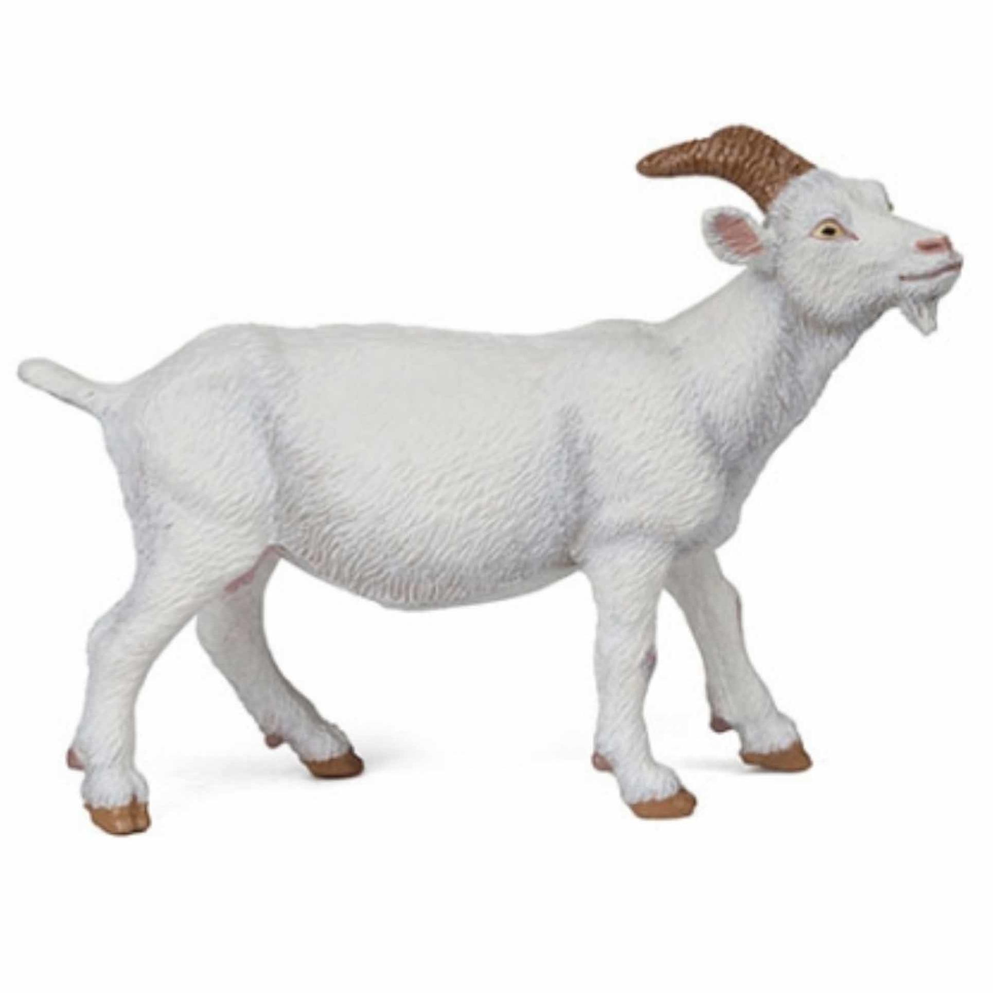 Witte geit speeldiertje 9 cm