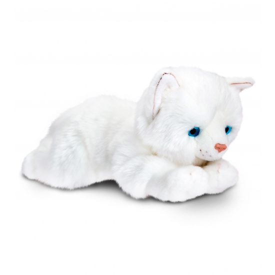 Witte kater knuffel 35 cm