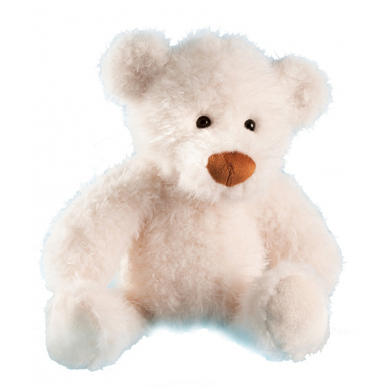 Witte knuffelbeer 28 cm
