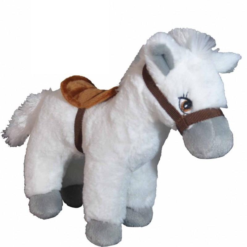 Witte paarden knuffel 25 cm knuffeldieren