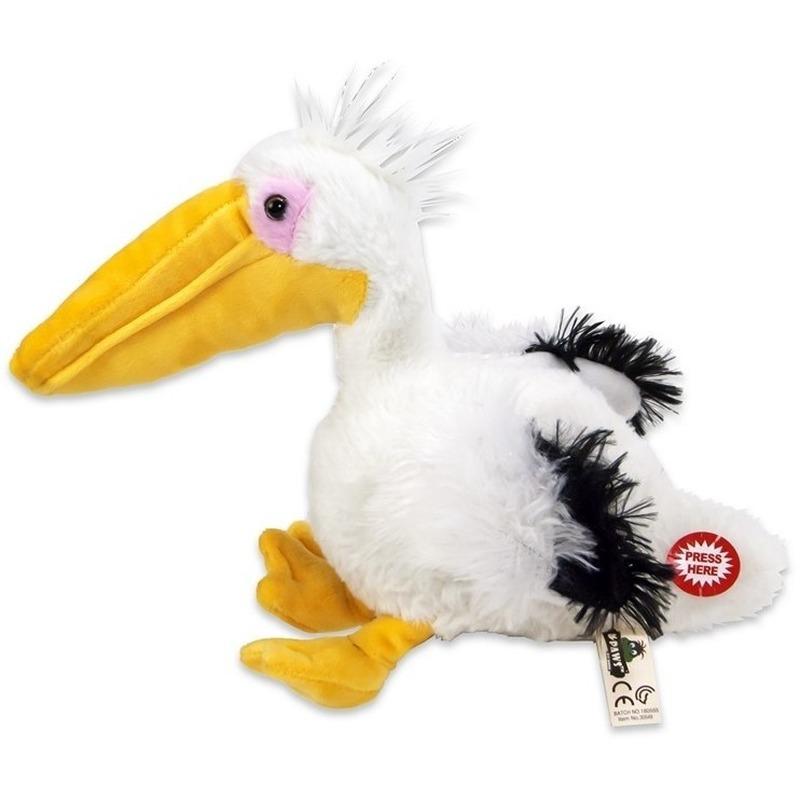 Witte pelikanen knuffels 24 cm knuffeldieren