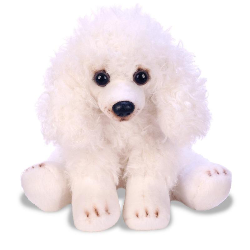 Witte Poedel knuffel 12 cm