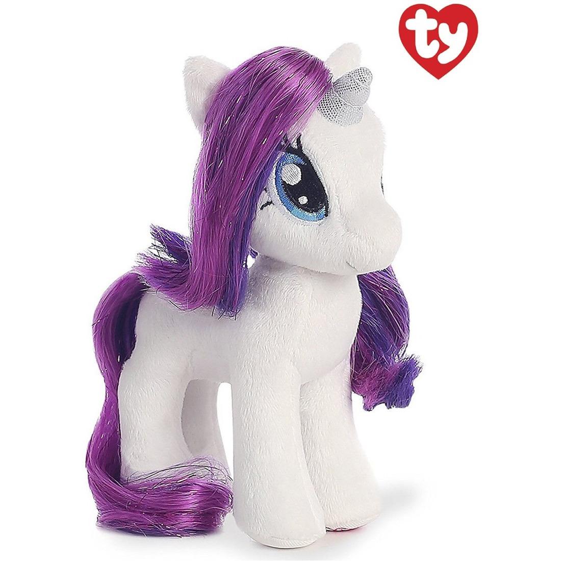 Witte Ty Beanie paard/pony knuffels Rarity 41 cm knuffeldieren