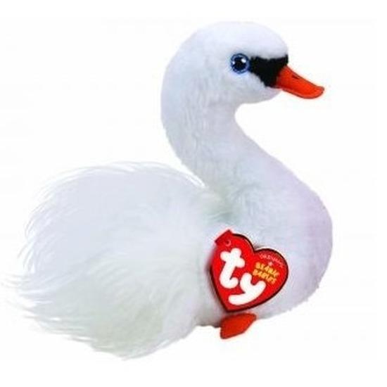 Witte Ty Beanie zwanen knuffels Gracie 15 cm knuffeldieren