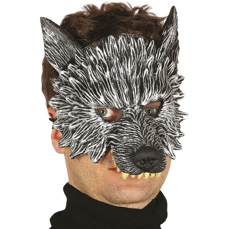 Wolf/wolven horror/halloween masker van foam