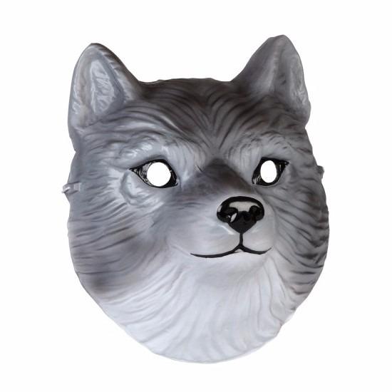 Wolven masker gemaakt van plastic 3D 22cm