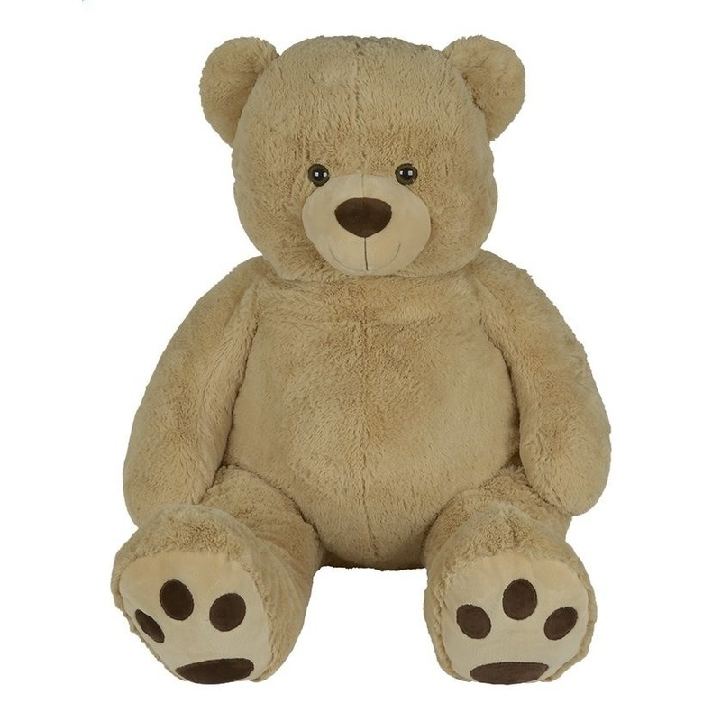 XL beer lichtbruin knuffeldier 135 cm