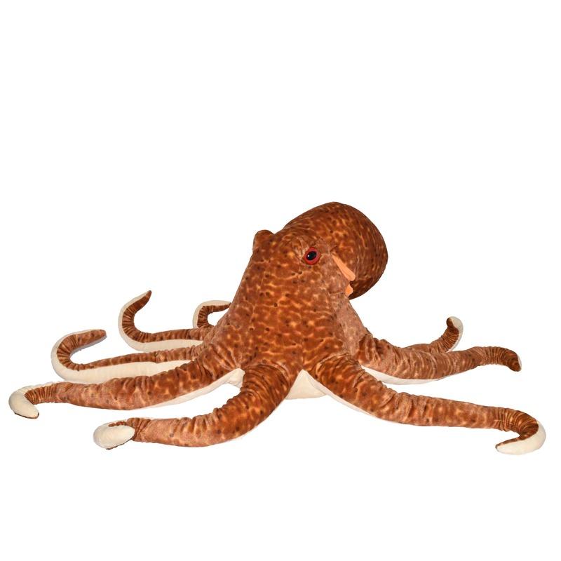 XL bruine octopussen knuffels 76 cm knuffeldieren