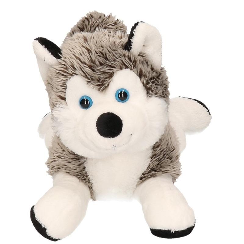 Zachte husky knuffel 24 cm