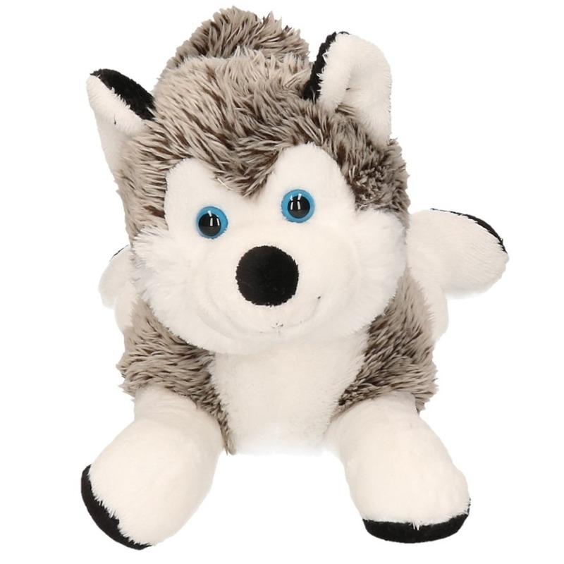 Zachte husky knuffel 30 cm