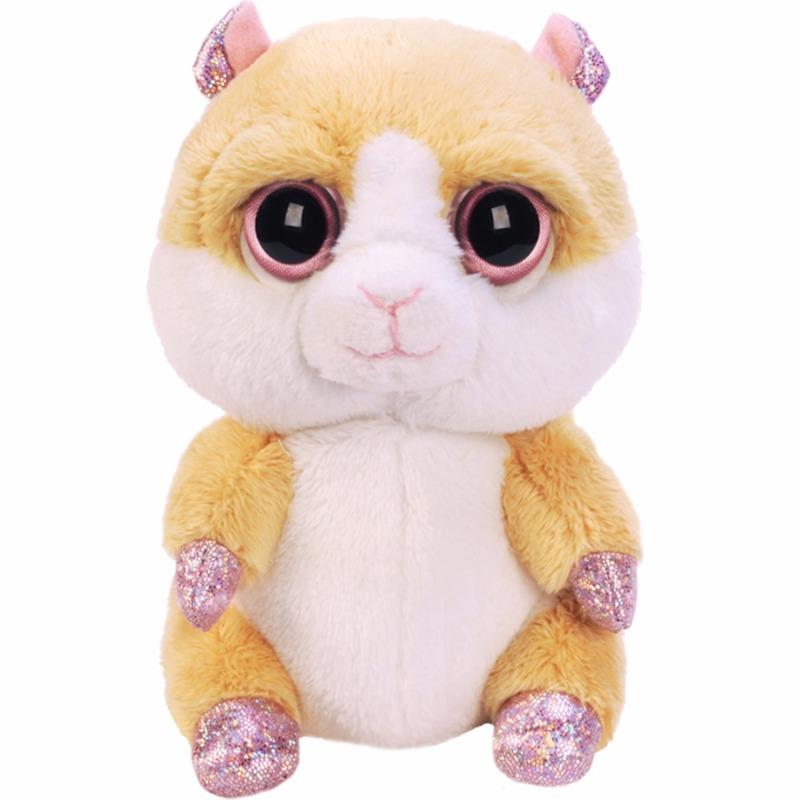 Zittende hamster knuffel 15 cm