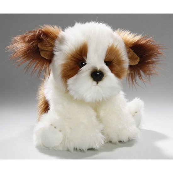 Zittende knuffel shih tzu hond 24 cm