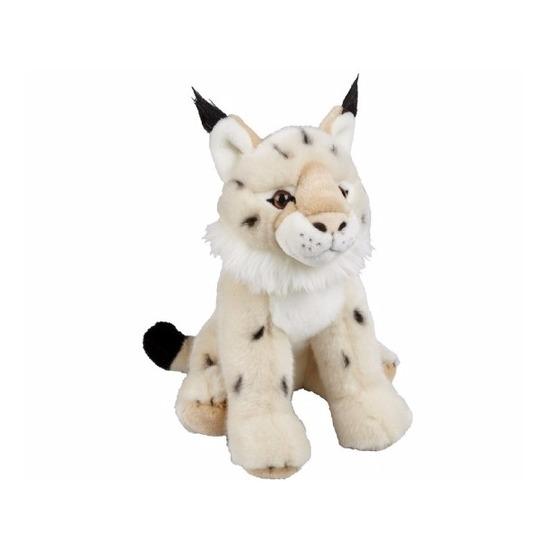 Zittende lynx knuffeldier 30 cm