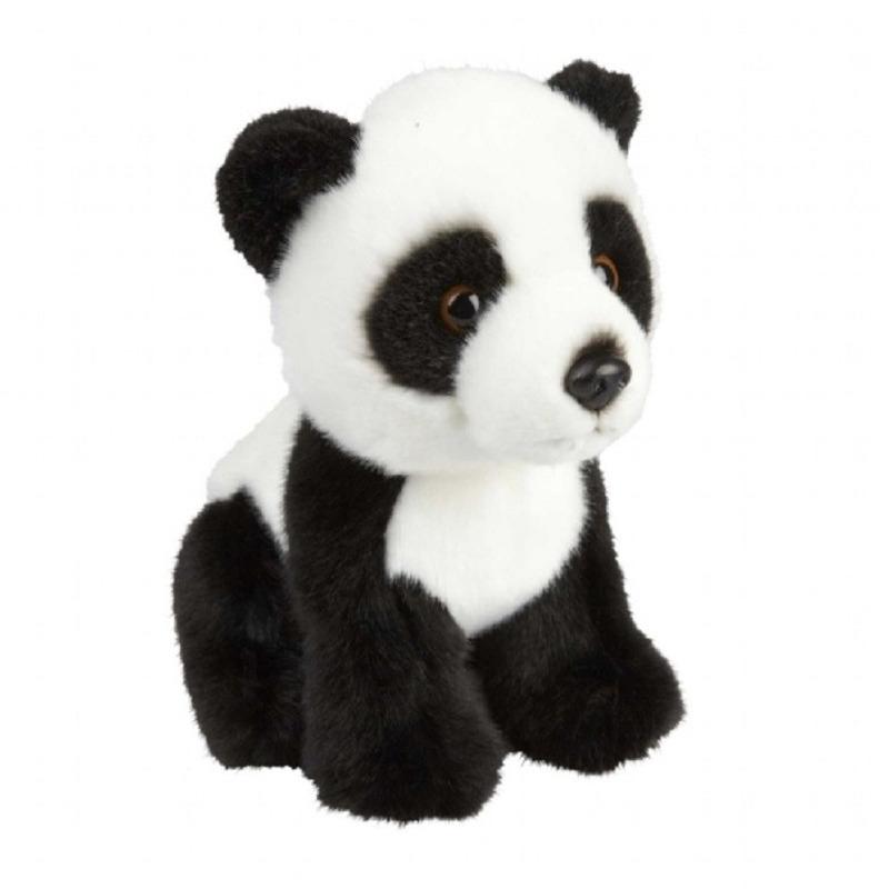 Zwart/witte pandabeer knuffel 18 cm knuffeldieren