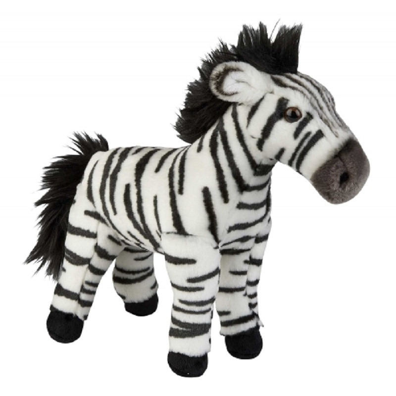 Zwart/witte zebra knuffel 28 cm knuffeldieren
