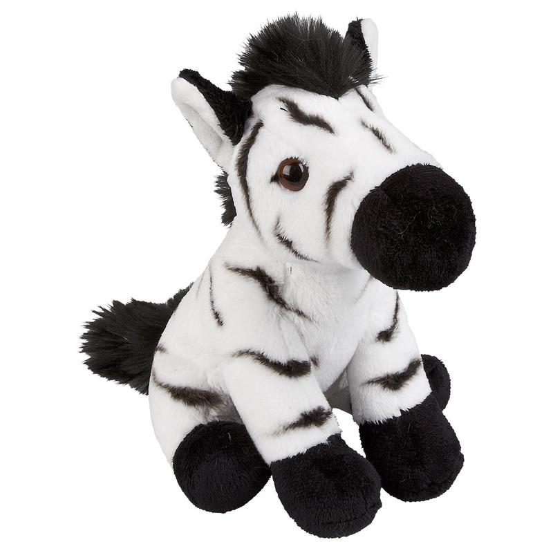 Afbeelding Zwart/witte zebras knuffels 19 cm knuffeldieren door Animals Giftshop