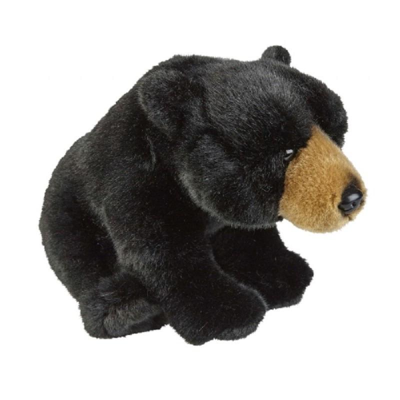 Zwarte beren knuffel 28 cm knuffeldieren