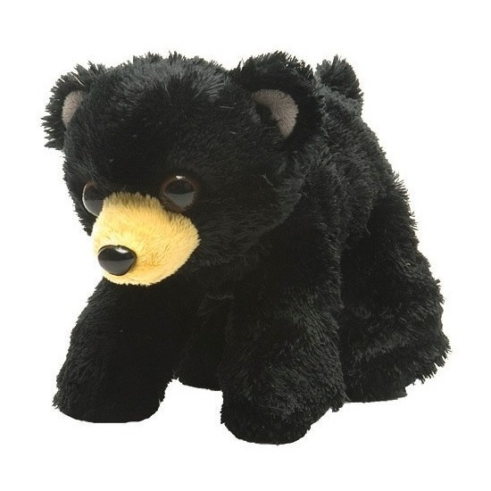 Zwarte beren knuffels 18 cm knuffeldieren
