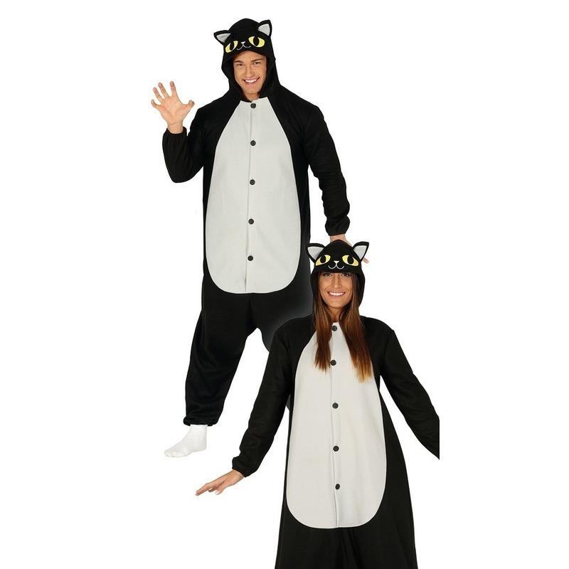 Zwarte kat/poes verkleed kostuum voor heren