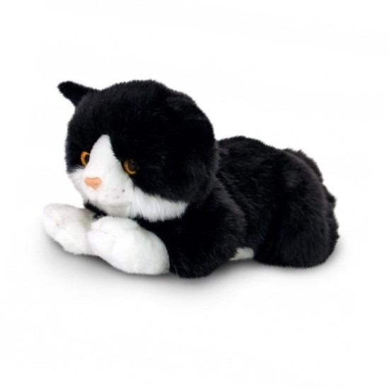 Zwarte kater katten/poezen knuffel 35 cm