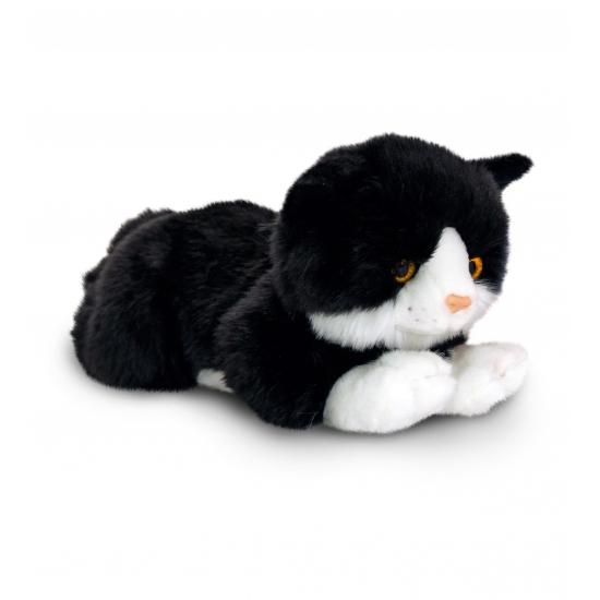 Zwarte kater knuffel 30 cm