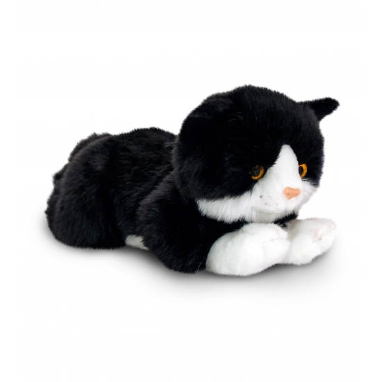 Zwarte kater knuffel 35 cm