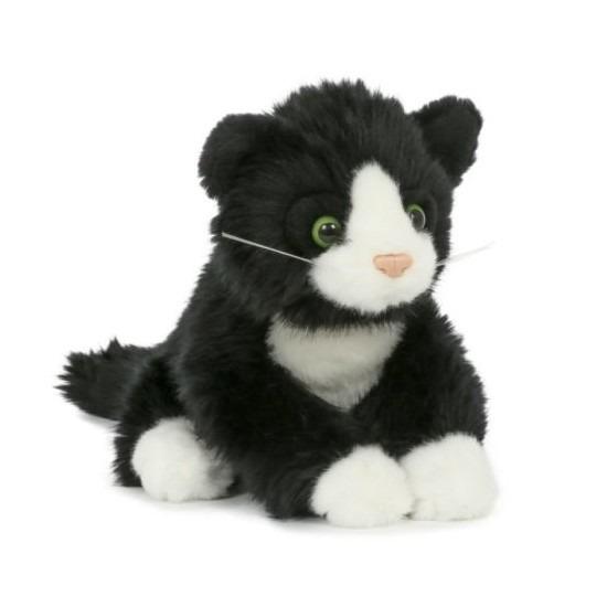 Zwarte katten/poezen knuffeldier 18 cm