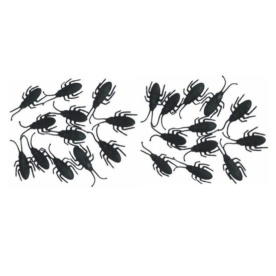 Zwarte nepkevers 24x stuks 7 cm
