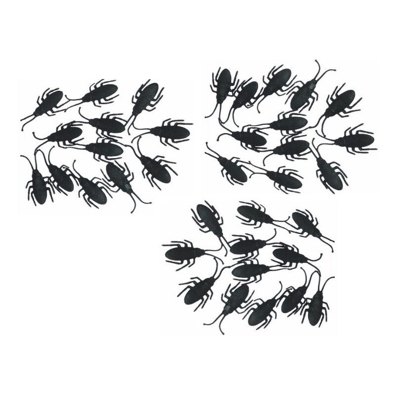 Zwarte nepkevers 36x stuks 7 cm