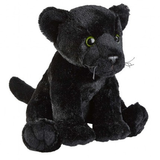 Zwarte panter knuffel 30 cm knuffeldieren