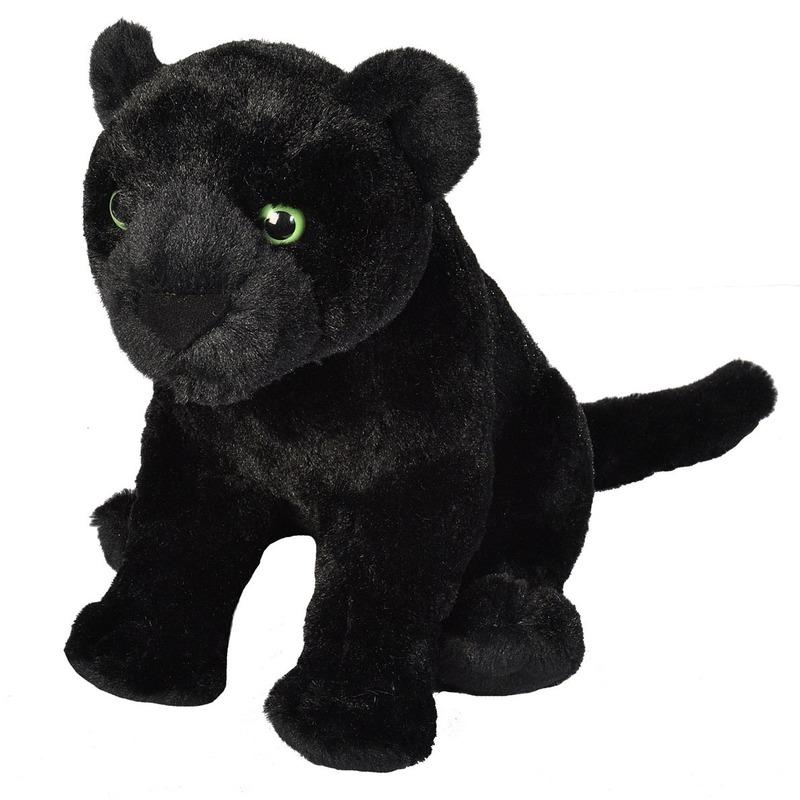 Zwarte panters knuffels 30 cm knuffeldieren